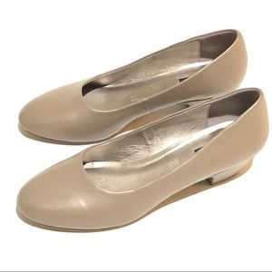 Array Lily Pump Comfort Heel Taupe Career Size 6.5